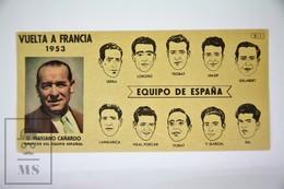 Old Spanish Chocolate Trading Card/ Chromo - 1953 Tour De France - Spanish Team - Chocolate