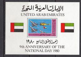 UAE - NATIONAL DAY / AIRPLANES 1980 MNH - Verenigde Arabische Emiraten