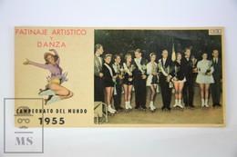 Old Spanish Chocolate Trading Card/ Chromo - 1955 World Championship Of Artistic Roller Skating - Chocolate