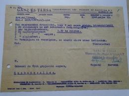 OK47.17 Hungary  National Coal Mines  1946 - Facturas & Documentos Mercantiles