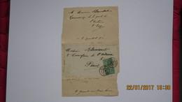ENVOI D'AUTEUR ET TIMBRES...8 Juil. 1892 Lyon Vaise / Par Gaston TARP / - Autographes