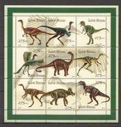 A997 2001 GUINE-BISSAU PREHISTORIC ANIMALS DINOSAURS 1SH MNH - Prehistorics