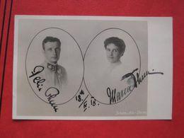 Vermählungs-Postkarte Felix Thun Hohenstein Und Marie Thun Hohenstein 1918 - Königshäuser
