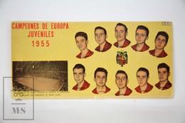Old Spanish Chocolate Trading Card/ Chromo - 1955 Europe Championship Of Youth Roller Hockey - Chocolate