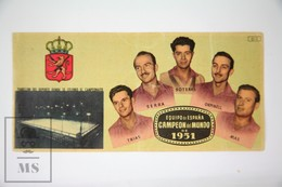 Old Spanish Chocolate Trading Card/ Chromo - 1951 World Championship Of  Roller Hockey - Spanish Team Winner - Chocolate