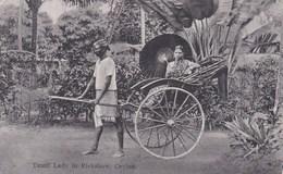 CEYLON - TAMIL LADY IN RICKSHAW - Sri Lanka (Ceylon)