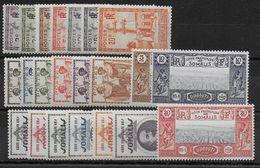 COTES DES SOMALIS - YT N° 148/169 * CHARNIERE LEGERE - MH - COTE = 29 EUR - French Somali Coast (1894-1967)