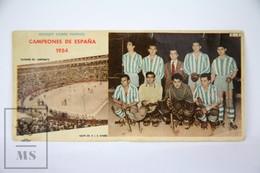 Old Spanish Chocolate Trading Card/ Chromo - 1953-54 Spanish Championship Of  Roller Hockey - Chocolate