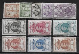 COTES DES SOMALIS - YT N° 177/187 * CHARNIERE LEGERE - MH - COTE = 16 EUR - French Somali Coast (1894-1967)