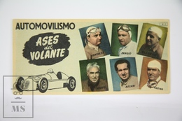 Old Spanish Chocolate Trading Card/ Chromo - Motorsport - Ace Drivers Of 1950's - Giuseppe Farina, Luigi Villoresi... - Chocolate