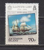 Ascension - SHIP / LLOYDS 1984 MNH - Ascension