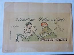 """Les Maitres De L'affiche Pl.51 Imprim.Chaix """"Deuxième Salon Du Cycle"""" 1894 Palais De L'industrie - Affiches"""