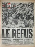 Libération 21 Août 1991 - Coup D'état URSS - Meurtre Du Berger Castellar- Marco Ferreri - Journaux - Quotidiens