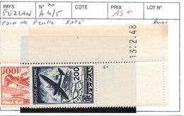 FEZZAN N° A 4/5 FEUILLE DATE - Fezzan (1943-1951)