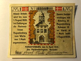 Allemagne Notgeld Augustenburg 1 Mark - [ 3] 1918-1933 : République De Weimar