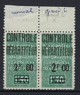 Colis Postaux D'Algérie, N° 36 Et 36 A ** TB Se Tenant, Grand 2 - Colis Postaux