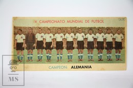 Old Spanish Chocolate Trading Card/ Chromo - 1954 FIFA Wold Football Championship - Winner Germany - Chocolate