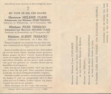 Melanie CLAES - Jules & Albert TERSAGO - Omgekomen Luchtaanval Mechelen 1944 - Décès