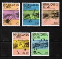 CHAD  Scott # 314-5,C 191-4** VF MINT NH INCLUDING SOUVENIR SHEET LG-488 - Chad (1960-...)