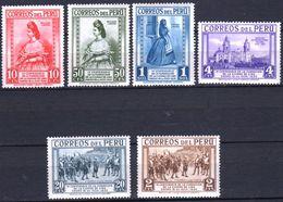 1935 PERU 6 V MNH 400th Anniversary Of The Founding Of Lima - Peru