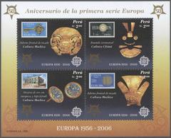 "** Peru: 2006, ""Europa Stamps, 50th Anniversary"". Lot Of 1,000 Souvenir Sheets, Mint, NH. Postage Price - Peru"