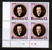 BARBADOS  Scott # 421** VF MINT NH CORNER BLOCK Of 4 LG-499 - Barbados (1966-...)