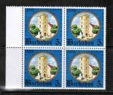 BARBADOS  Scott # 420** VF MINT NH BLOCK Of 4 LG-500 - Barbados (1966-...)