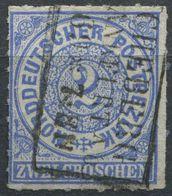 NDP 2 Gr Freimarke Michel 5 Gestempelt, R3 MÜNCHEBERG R.B. FRANKFURT A./O. (1-444) - Norddeutscher Postbezirk