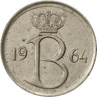Belgique, 25 Centimes, 1964, Bruxelles, TTB, Copper-nickel, KM:153.1 - 02. 25 Centimes