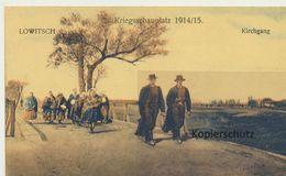 AK Lowitsch, Kirchgang 1915 - Polonia