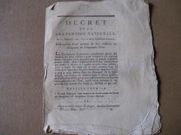 DECRET CONVENTION NATIONALE FABRICATION DE 300 MILLIONS D'ASSIGNATS 1792 REVOLUTION 50 LIVRES - ...-1889 Anciens Francs Circulés Au XIXème