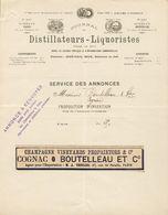 75.Paris - Entête 14 Décembre 1896 - Journal Des Distillateurs-Liquoristes +  (proposition D'Insertion Publicitaire). - Alcohols