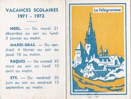 Petit Calendrier Le Télégramme 1972 - Calendriers
