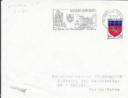 AUBE 10  - NOGENT SUR SEINE -  FLAMME N° 1310 - VOIR DESCRIPTION  - 1967 - Postmark Collection (Covers)