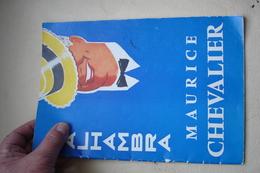 PROGRAMME ALHAMBRA MAURICE CHEVALLIER Décembre 1956 - Programs