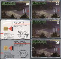 Telefonkarten: Kleines Lot Mit 11 Russischen Telefonkarten, Meist Mit Motiven Aus Sibirien - Phonecards