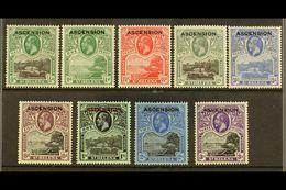 1922 Overprints Complete Set, SG 1/9, Very Fine Mint, Fresh. (9 Stamps) For More Images, Please Visit Http://www.sandafa - Ascension