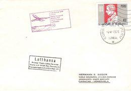 PERÚ - FIRST FLIGHT LH 517 LIMA - CARACAS 1976 - Peru