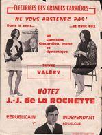 PROSPECTUS D'un Candidat GISCARDIEN Votez J.J.DE.LA.ROCHETTE 1974 - Programs