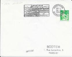 DORDOGNE 24  - NONTRON   -  FLAMME N° 1231 - VOIR DESCRIPTION  - 1963 - - Postmark Collection (Covers)