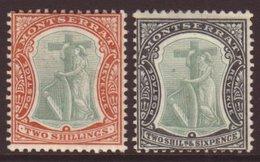 1908 2s Green And Orange & 2s6d Green And Black, SG 31/32, Very Fine Mint. (2 Stamps) For More Images, Please Visit Http - Montserrat