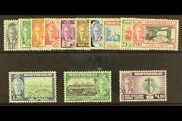 1951 Complete Definitive Set, SG 123/135, Very Fine Used. (13 Stamps) For More Images, Please Visit Http://www.sandafayr - Montserrat