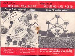 Brochure Politiek - 4 Jaar Bestuur Met Socialisten - 1954 - 1958 - Regering Van Acker - Oude Documenten
