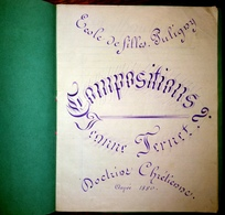 Cahier D'écolière1880 - Diploma & School Reports