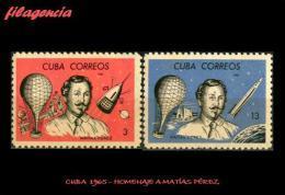 CUBA MINT. 1965-12 PIONEROS DE LA AVIACIÓN. HOMENAJE A MATÍAS PÉREZ - Cuba