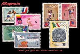 CUBA MINT. 1968-14 JUEGOS OLÍMPICOS EN MÉXICO - Cuba