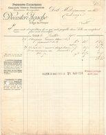 59 LILLE FACTURE 19 17 Coulerurs Vernis Drogueries DECOSTER AGACHE   *  Z67 - France