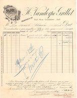 59 LILLE FACTURE 1896 PAPIERS En Gros VANDORPE GRILLET  *  Z67 - France