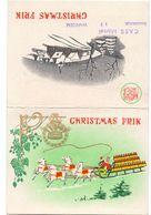 Kalender Calendrier 1960 - Pub Reclame Bier Christmas Frik - Caes Marcel Waregem - Calendriers