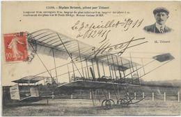 AVIATION.  AVION . BIPLAN BRISTOL PILOTE PAR TETARD - Flieger